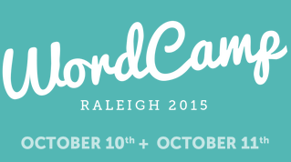 """Image of text """"WordCamp Raleigh 2015"""""""